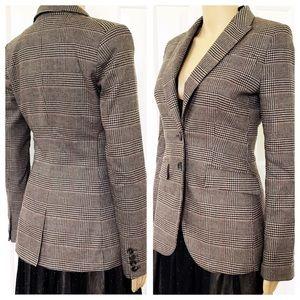 NWOT H&M wool blend plaid jacket blazer 6